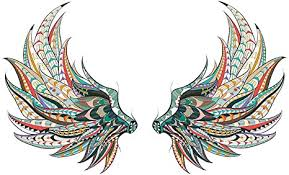 Colorful Feather Wings Wall Sticker - GorNorriss New ... - Amazon.com