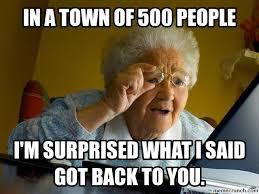 Amazed Small Town Gossip via Relatably.com