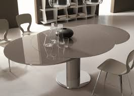 round glass extendable dining table:  dining table bontempi giro round extending dining table round white extendable dining table and round