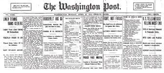 「The Washington Post 1910 edition]」の画像検索結果