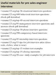 Top   pre sales engineer resume samples SlideShare         Useful materials for pre sales engineer