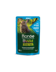 <b>MONGE BWILD Grain</b> Free Anchovies with vegetables in sauce 85g