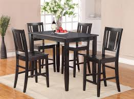 black kitchen dining sets: gallery of bold and modern black kitchen table sets pc dinette kitchen dining set rectangular table amp  chairs in black