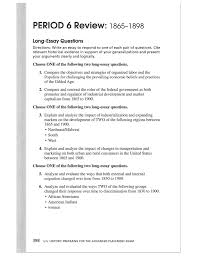 review period long essay questions