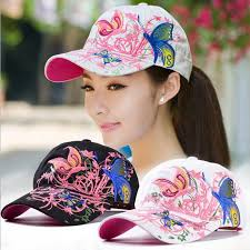 Aliexpress.com : Buy <b>Women Butterflies</b> Flower Embroidery Caps ...