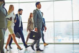 modern business people walking to work stock photo picture and modern business people walking to work stock photo 52076501