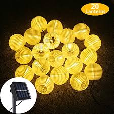 Solar LED Lanterns <b>String</b> Lights, ALED LIGHT 13.2Ft <b>4M 20 LED</b> ...