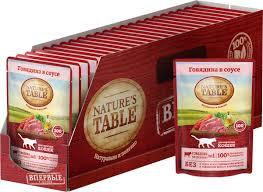 "Консервы ""<b>Nature's Table</b>"", для кошек, говядина в соусе, 85 г х 24 шт"