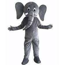 Elephant Mascot Costume Cartoon Character ... - Amazon.com