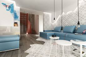 going easy to relax on a blue leather sofa designoursign living room lighting ideas low ceiling ceiling lights living room