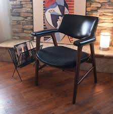 vintage wooden office chair desk mid century modern walnut chair black faux leather retro vintage 196039s amazing retro office chair