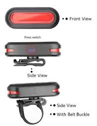 Eskiee COB <b>Tail Light bicycle</b> Light <b>USB</b> Rechargeable <b>bike Tail</b> ...