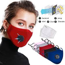 <b>Cotton Anti Dust Mouth</b> Face Mask Unisex maska with Carbon Filter ...