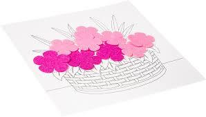 <b>Bondibon</b> Поделка из бумаги <b>Картина своими руками</b> Букет цветов