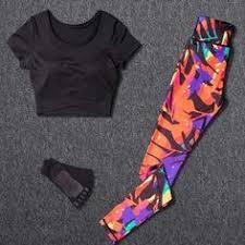 3Pcs <b>Women Yoga Sets</b> Sports Outfit <b>Gym</b> Wear Running Clothing ...