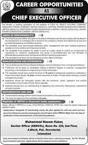chief executive officer jobs in genco 2014 wapda chief executive officer jobs in genco 2014 wapda