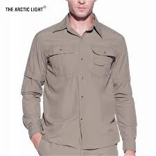 <b>The Arctic Light Men</b> Summer Quick Dry Hiking Shirt Removable ...