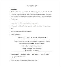 photographer resume template 17 free samples examples format photographer photography resume template