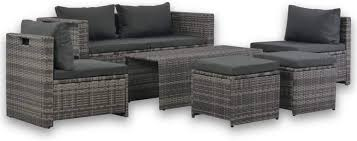 DESITEUS 6 Piece Garden Lounge Set with ... - Amazon.com