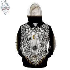 Wolfskull By ScandyGirlArt <b>3D Zip Hoodie Men Zipper Sweatshirt</b> ...
