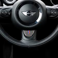 Carbon Fiber Steering Wheel <b>Decorative</b> Cover Trim Sticker Car ...