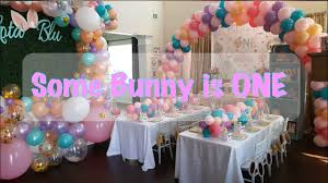 Dakota's <b>First Birthday</b> Party | <b>Some Bunny</b> is ONE | DIY - YouTube