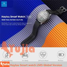 [#<b>GLOBAL VERSION</b>] <b>Haylou</b> Solar LS05 Smart Watch 12 Sports ...