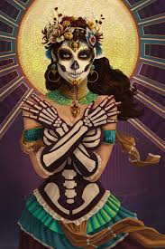 best images about dia de los muertos santa 17 best images about dia de los muertos santa muerte beautiful artwork and sugar skull art