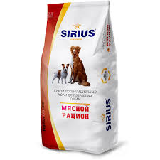 <b>Сухой корм Sirius</b> мясной рацион для собак, 15 кг, артикул: 00 ...