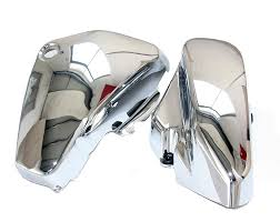 One Pair Chrome <b>Motorcycle Left & Right</b> Battery Side Covers ...