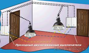 <b>Проходные двухклавишные выключатели</b>: 5 схем | Блог ...