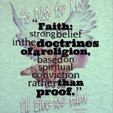 Page 1 of Quotes about Faith: strong belief in the doctrines of a ... via Relatably.com