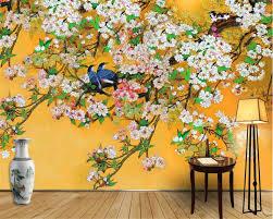 <b>beibehang</b> beautiful <b>wallpaper</b> Chinese hand painted tricks flowers ...