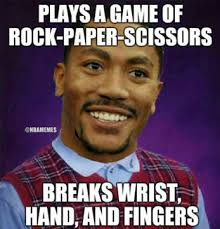 BALLnROLL - Derrick Rose's Injuries, Illustrated By 7 Hilarious ... via Relatably.com