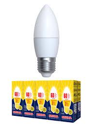 <b>Лампочка Volpe</b> Комплект из 10 светодиодных ламп <b>LED</b>-C37-7W ...