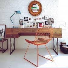 brick office furniture. 15 cool home office design with exposed brick walls furniture