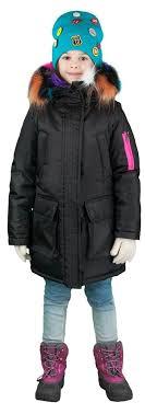 <b>Куртка</b>-<b>парка</b> с разноцветной меховой опушкой/ черный <b>BOOM</b> ...