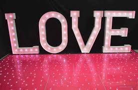 hire a pink twinkly dance floor pink twinkling floor rentals love in letters