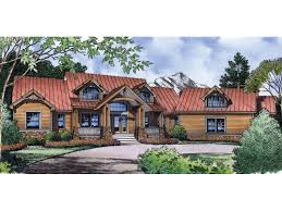 Oriole Place Mountain Home Plan D    House Plans and MoreRustic Mountain Style Home With Metal Roof And Large Dormers
