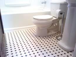 white bathroom floor:  impressive decoration black and white bathroom floor tile spelndid black shelf design designs
