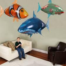 Remote Control <b>Flying</b> Air Shark Toy Clownfish Balloons <b>Inflatable</b> ...