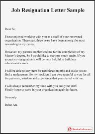 job resignation letter sample   format   template   examplejob resignation letter sample