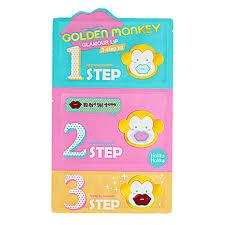 HOLIKA <b>HOLIKA Golden Monkey Glamour</b> Lip Mask 3step Kit 1Set ...