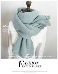 2019 Women Solid Cashmere Scarves Lady <b>Winter Thicken Warm</b> ...