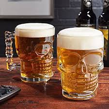 Buy MIR9 <b>Skull</b> Beer Mug 520ML <b>Glass</b> Transparent for Your Home ...