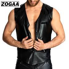 2019 <b>ZOGGA</b> Wetlook Patent Leather Vests High Quality Men ...