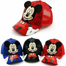 Mickey Mouse Printed Cap For Kids <b>Summer Caps Casquette</b> ...