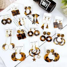 Hot <b>Moon</b> Acrylic <b>Square</b> Round drop earrings for Women ...