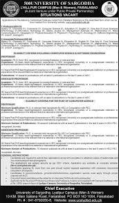jobs in university of sargodha lyallpur campus faisalabad 23 jobs in university of sargodha lyallpur campus faisalabad 23 2016