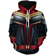 Movie <b>Captain Marvel</b> Cosplay <b>Hot Sale</b> Zipper Hoodie Carol ...